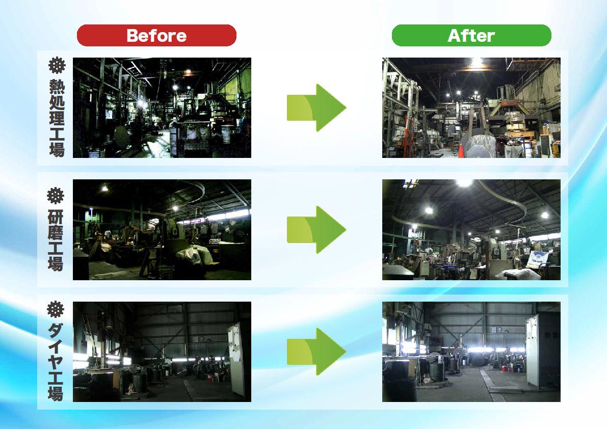関西鋼業様LED照明工事